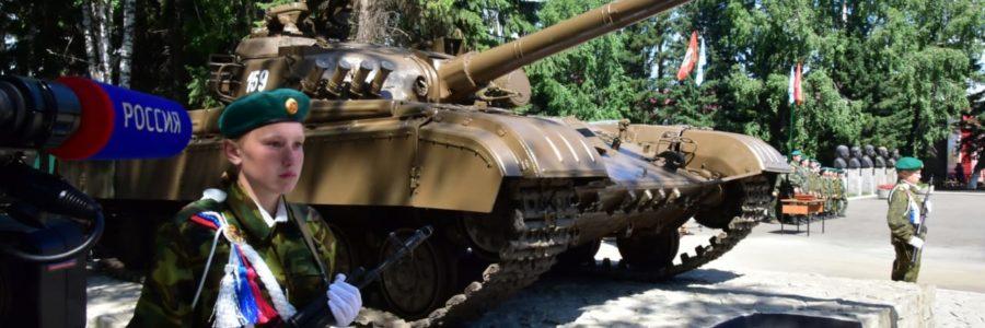 В Алтайском районе Алтайского края  открылся мемориал с боевым советским танком Т-64Б